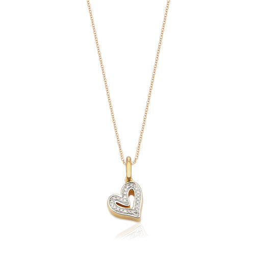 Alphabet Heart Diamond Pendant Charm Necklace Set - Monica Vinader