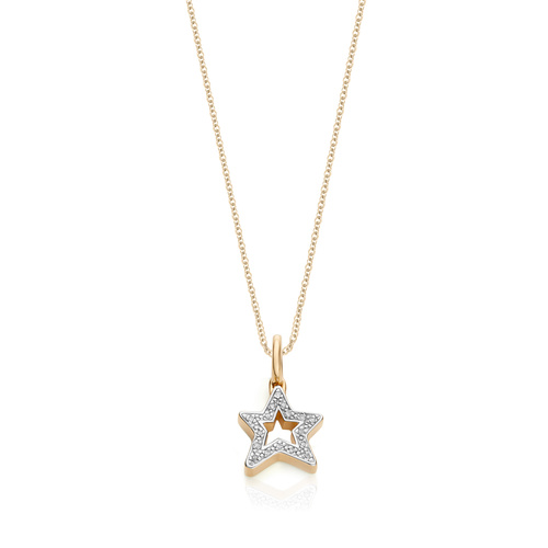Alphabet Star Diamond Pendant Charm Necklace Set - Monica Vinader