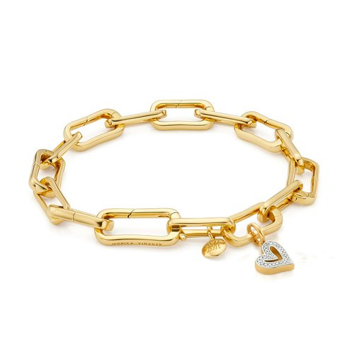 Alta Capture Diamond Heart Charm Bracelet - Monica Vinader
