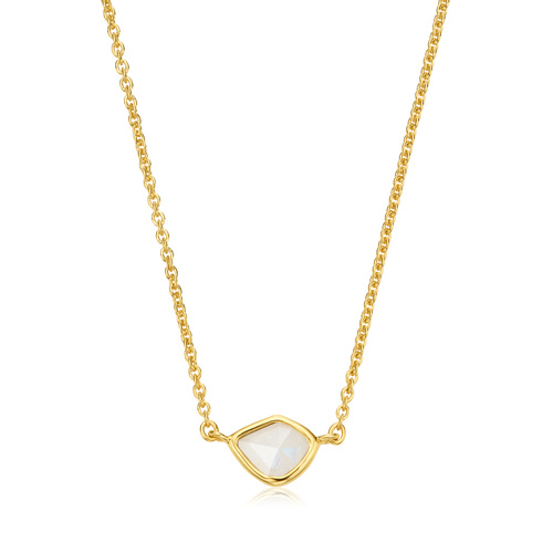 Gold Vermeil Siren Mini Nugget Necklace - Moonstone - Monica Vinader