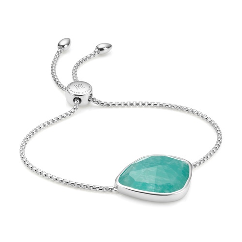 Sterling Silver Siren Nugget Cocktail Friendship Chain Bracelet - Amazonite - Monica Vinader