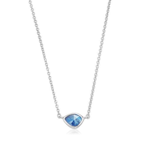 Sterling Silver Siren Mini Nugget Necklace - Kyanite - Monica Vinader