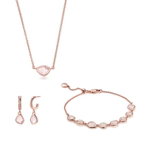 Siren Mini Nugget Bracelet, Necklace and Earring set - Monica Vinader
