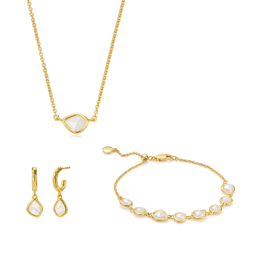 Siren Mini Nugget Bracelet, Necklace and Earring set - Monica Vinader