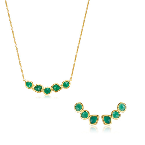 Siren Cluster Necklace and Climber Earring set - Monica Vinader