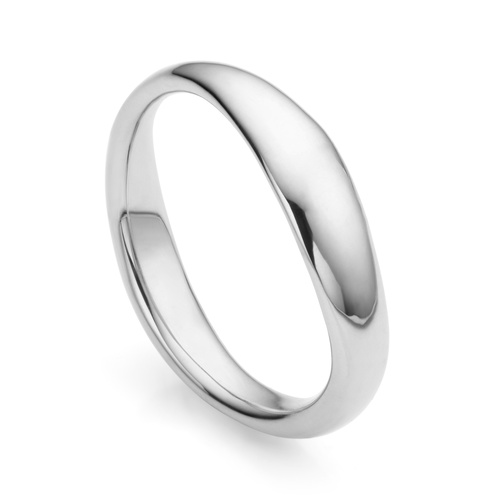 Sterling Silver Nura Reef Stacking Ring - Monica Vinader