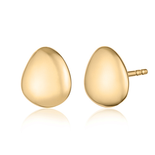 Gold Vermeil Nura Small Pebble Stud Earrings - Monica Vinader
