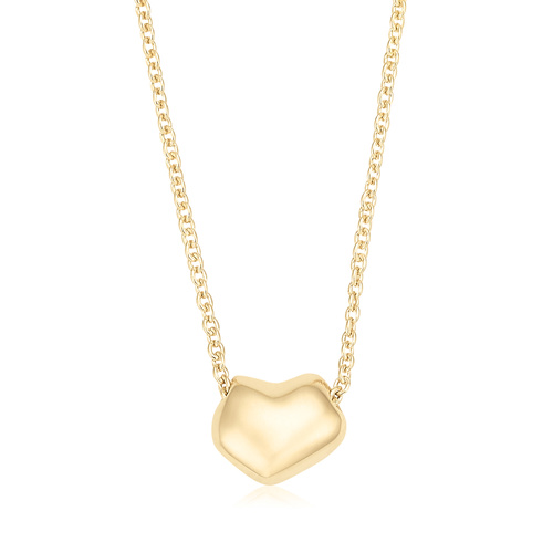 Gold Vermeil Nura Heart Necklace - Monica Vinader