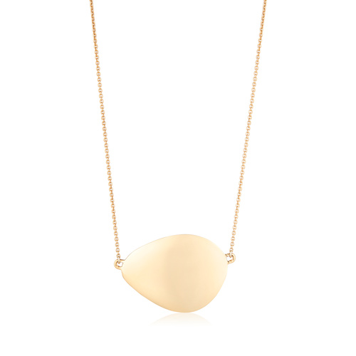Gold Vermeil Nura Large Teardrop Necklace - Monica Vinader
