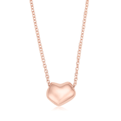 Rose Gold Vermeil Nura Heart Necklace - Monica Vinader
