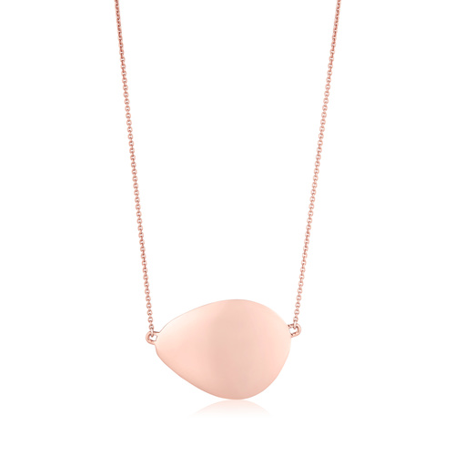 Rose Gold Vermeil Nura Large Teardrop Necklace - Monica Vinader