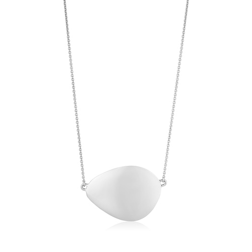 Sterling Silver Nura Large Teardrop Necklace - Monica Vinader