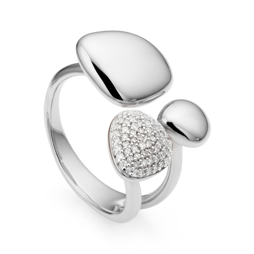 Nura Pebble Cluster Diamond Ring - Diamond - Monica Vinader