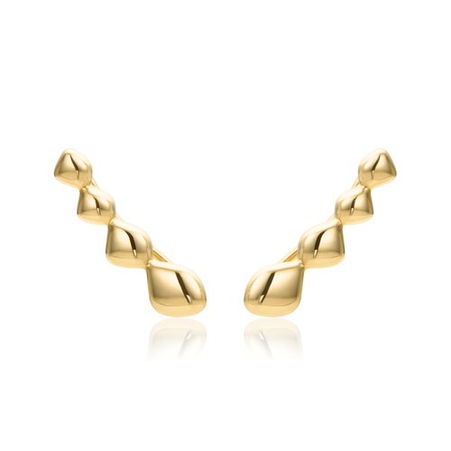 Gold Vermeil Nura Teardrop Climber Earrings - Monica Vinader