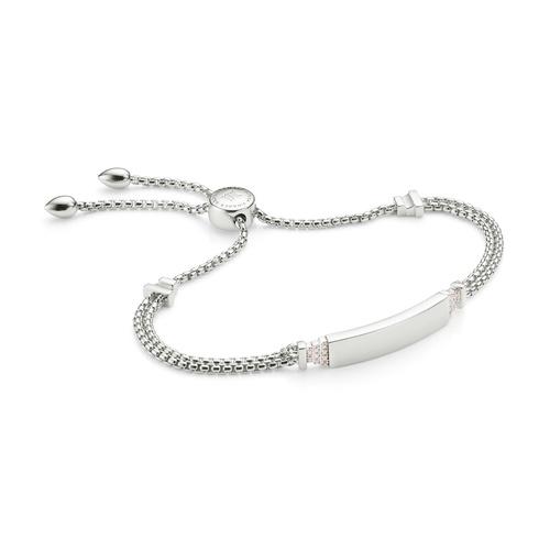 Baja Deco ID Diamond Bracelet - Diamond - Monica Vinader