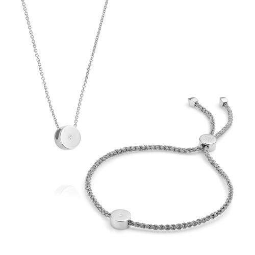 Linear Solo Necklace and Bracelet Set - Monica Vinader