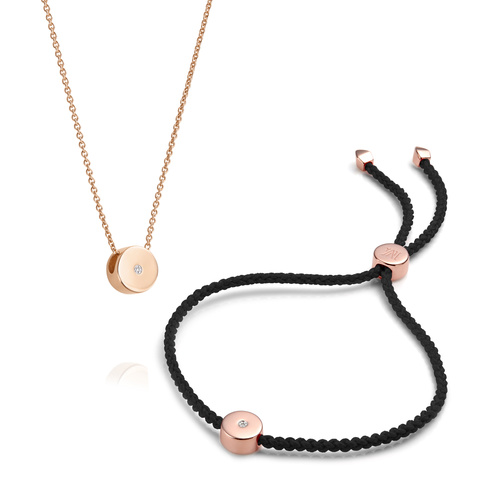 Linear Solo Necklace and Bracelet Set - Monica Vinader
