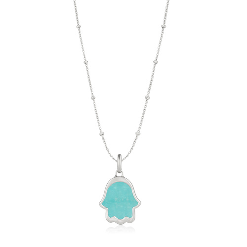 Atlantis Hamsa Hand Pendant Charm Necklace Set - Monica Vinader