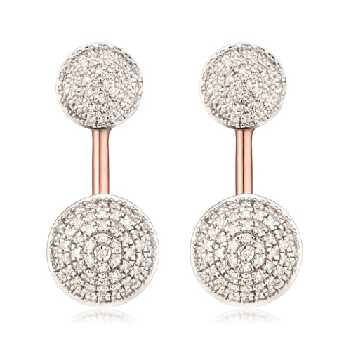 Rose Gold Vermeil Stellar Earrings - Diamond - Monica Vinader