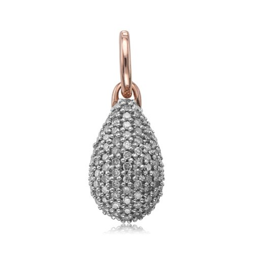 Rose Gold Vermeil Stellar Pendant - Diamond - Monica Vinader