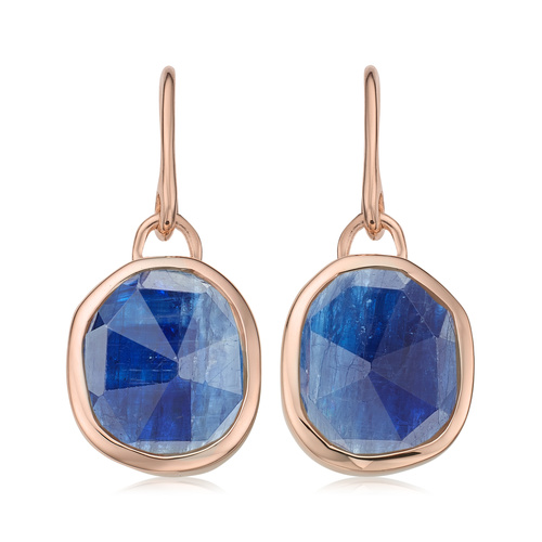 Rose Gold Vermeil Siren Wire Earrings - Kyanite - Monica Vinader