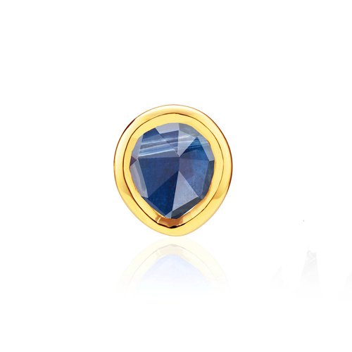 Gold Vermeil Siren Mini Stud Single Earring - Kyanite - Monica Vinader