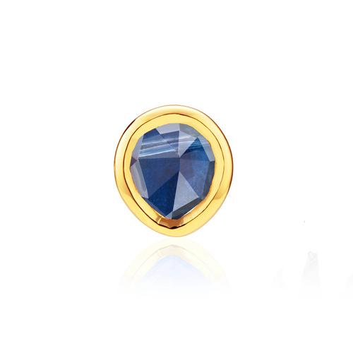 Gold Vermeil Siren Mini Stud Single Earring - Kyanite - Monica Vinader