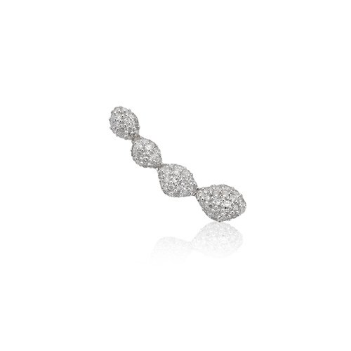 Rose Gold Vermeil Nura Teardrop Climber Diamond Single Earring - Diamond - Monica Vinader