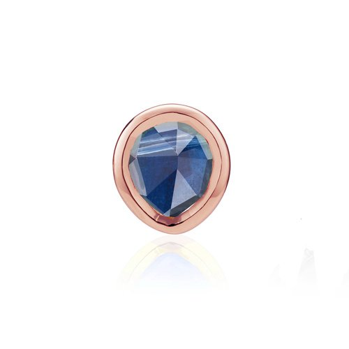 Rose Gold Vermeil Siren Mini Stud Single Earring - Kyanite - Monica Vinader