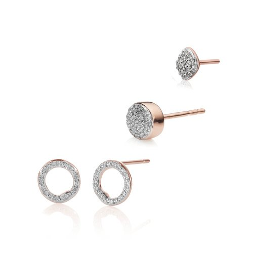 Riva Circle Studs, Fiji and Nura Single Earring Diamond Set  - Monica Vinader