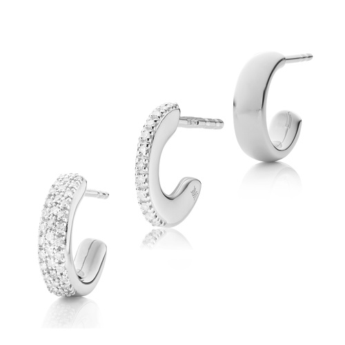 Fiji Hoop Diamond Single Earring Set - Monica Vinader