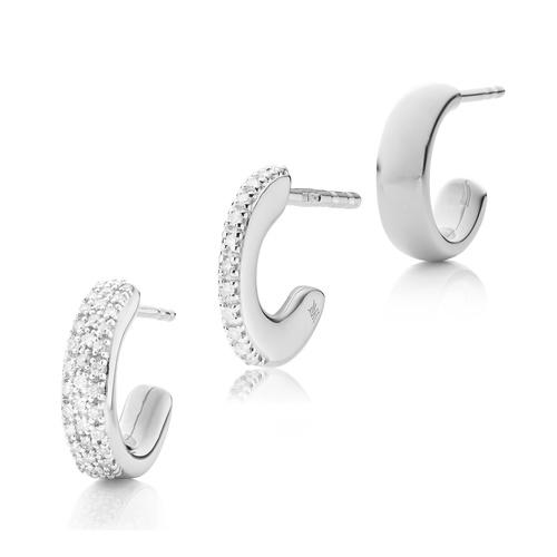 Fiji Hoop Diamond Single Earring Set - Monica Vinader