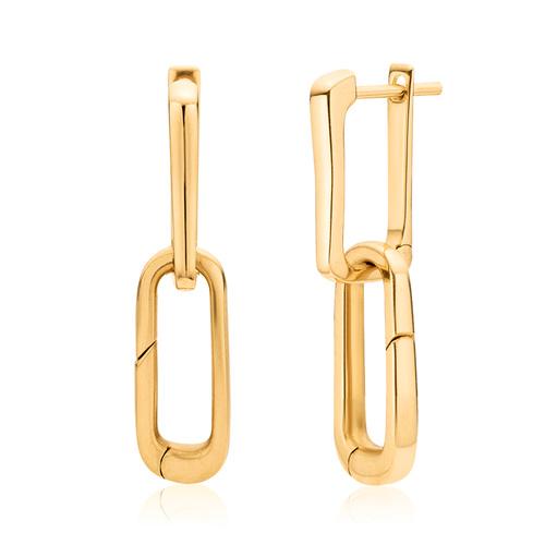Gold Vermeil Alta Capture Charm Earrings - Monica Vinader
