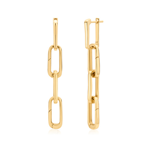 Gold Vermeil Alta Capture Charm Cocktail Earrings - Monica Vinader