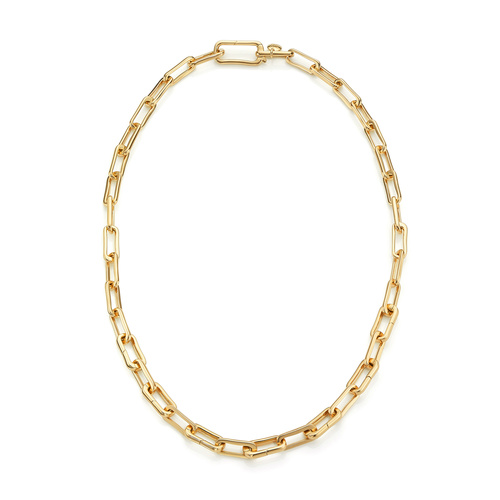 Gold Vermeil Alta Capture Charm Necklace - Monica Vinader
