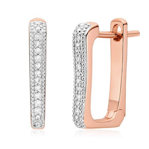 Rose Gold Vermeil Alta Capture Huggie Diamond Earrings - Diamond - Monica Vinader