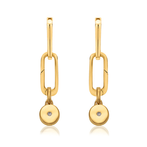 Alta Capture and Linear Solo Pendant Charm Earring Set - Monica Vinader
