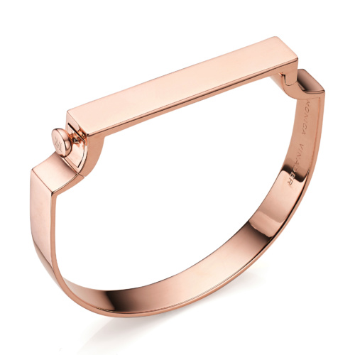 Rose Gold Vermeil Signature Petite Bangle - Monica Vinader