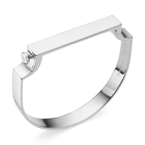 Sterling Silver Signature Bangle - Monica Vinader