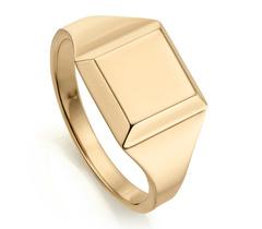 Gold Vermeil Signature Signet Ring - Monica Vinader