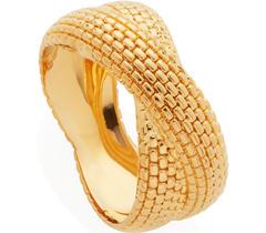 Gold Vermeil Doina Cross Ring - Monica Vinader