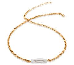 Gold Vermeil Nura Biwa Pearl Necklace - Pearl - Monica Vinader