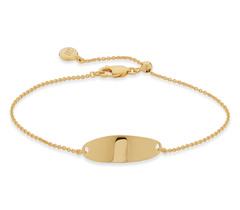 Gold Vermeil Nura Tiny Fine Chain Bracelet -  - Monica Vinader