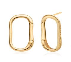Gold Vermeil Alta Capture Stud Earrings - Monica Vinader