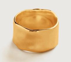 Gold Vermeil Siren Muse Wide Ring - Gold Vermeil Siren Muse Wide Ring - Monica Vinader