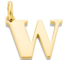 Gold Vermeil Alphabet Pendant W