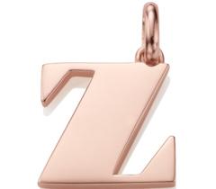 Rose Gold Vermeil Alphabet Pendant Z