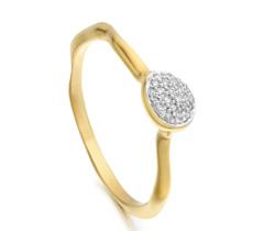 Gold Vermeil Siren Diamond Small Stacking Ring