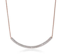 Rose Gold Vermeil Esencia Full Diamond Necklace 1