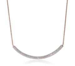 Rose Gold Vermeil Esencia Full Diamond Necklace 1